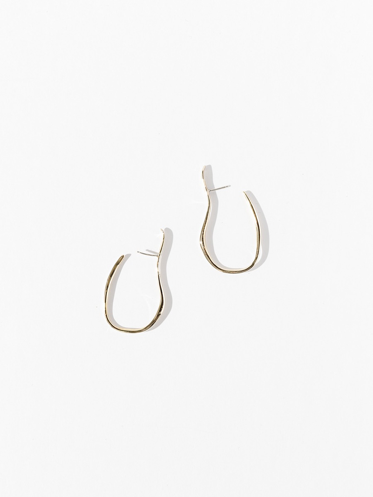 Faris vinea hook earrings bronze