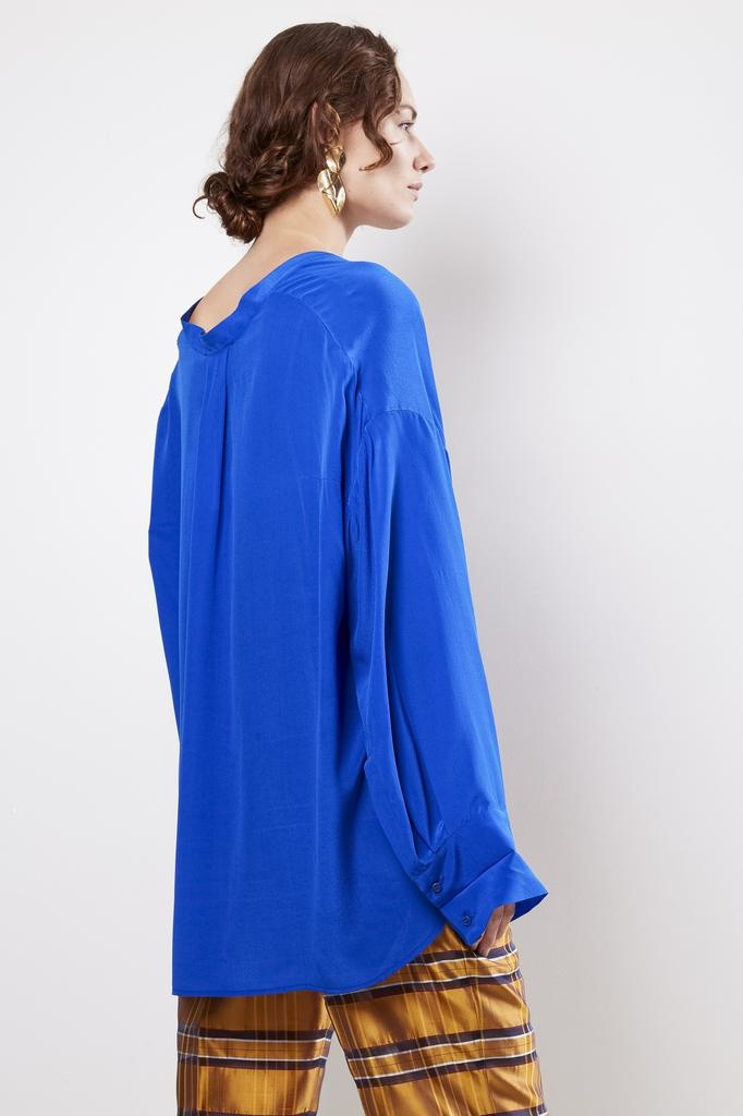 Christian Wijnants TAIA ELECTRIC BLUE BLOUSE
