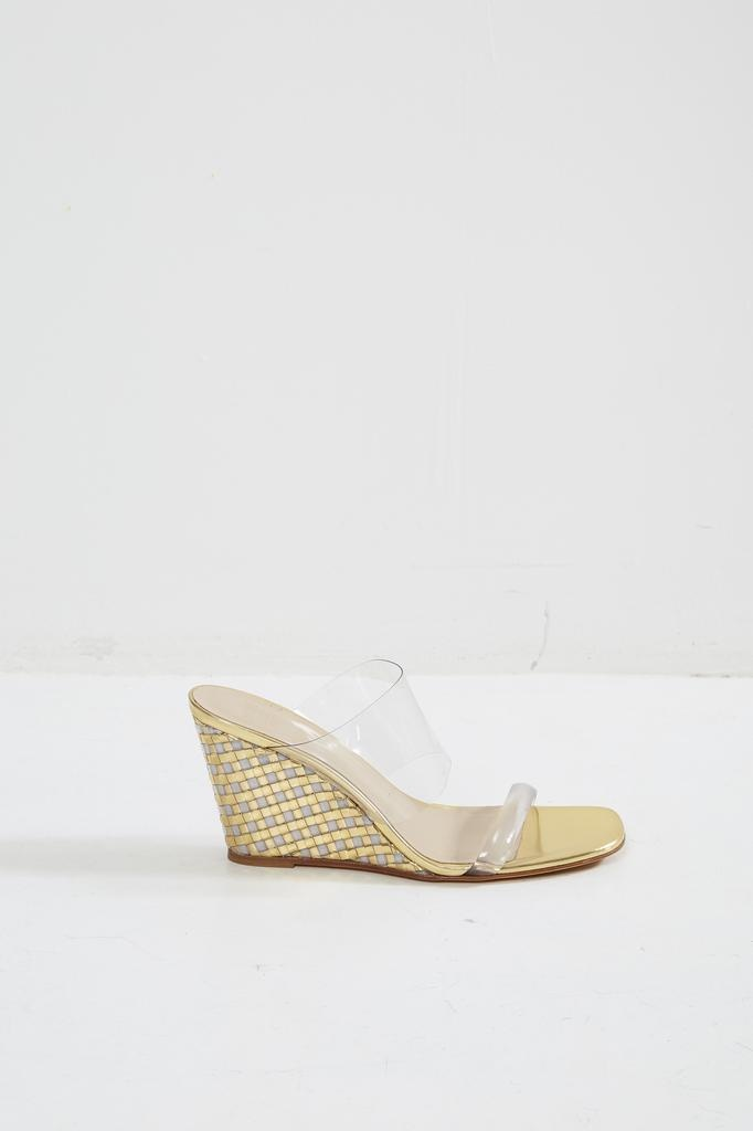 Maryam Nassir Zadeh Olympia wedge gold basket