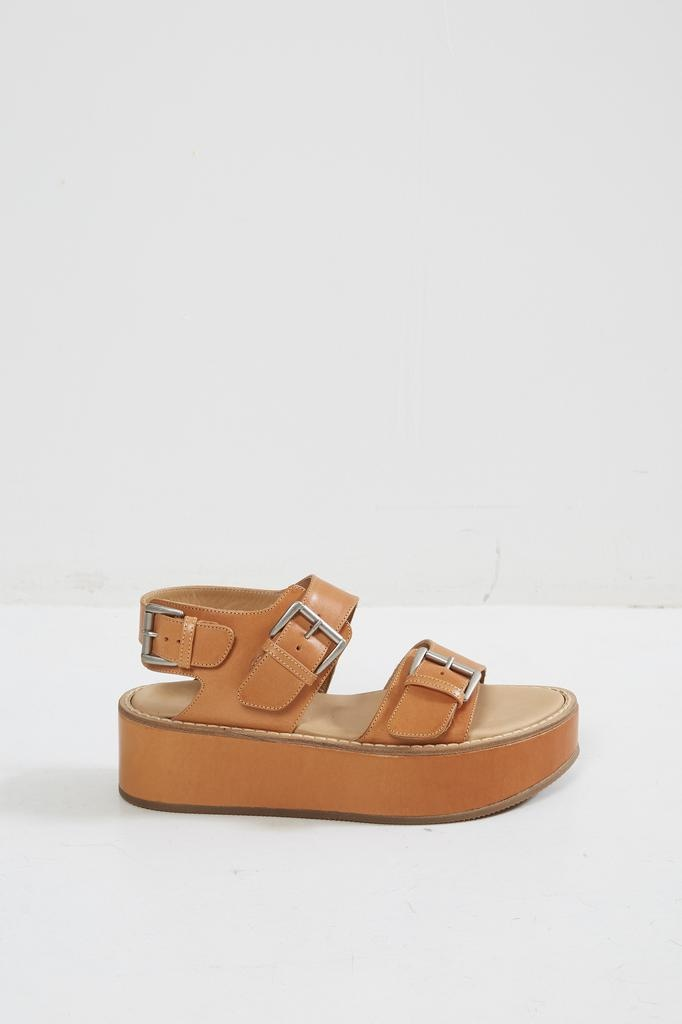 Ann Demeulemeester TUCSON NATURALE 100% LEATHER SANDALS