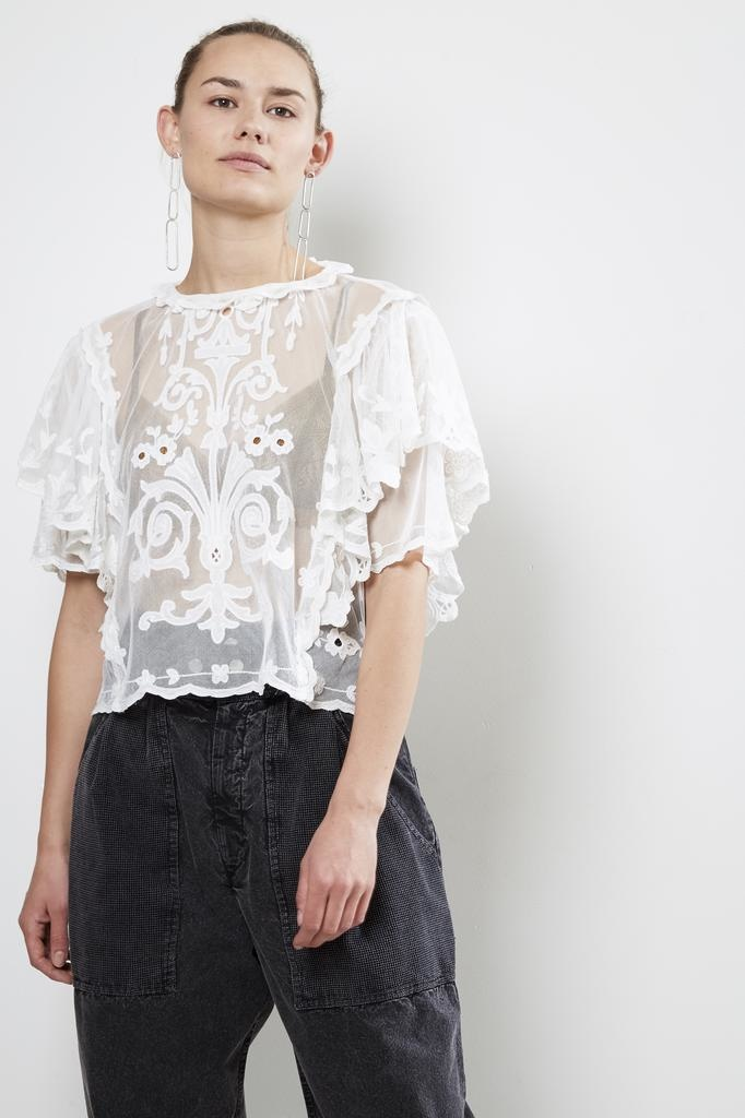 Isabel Marant SEAL BIANCA S EMBROIDERY TOP
