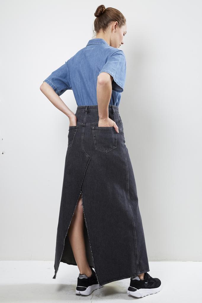 MM6 jeans skirt