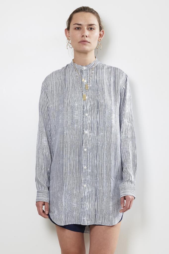 Bananatime 100% silk grandad shirt