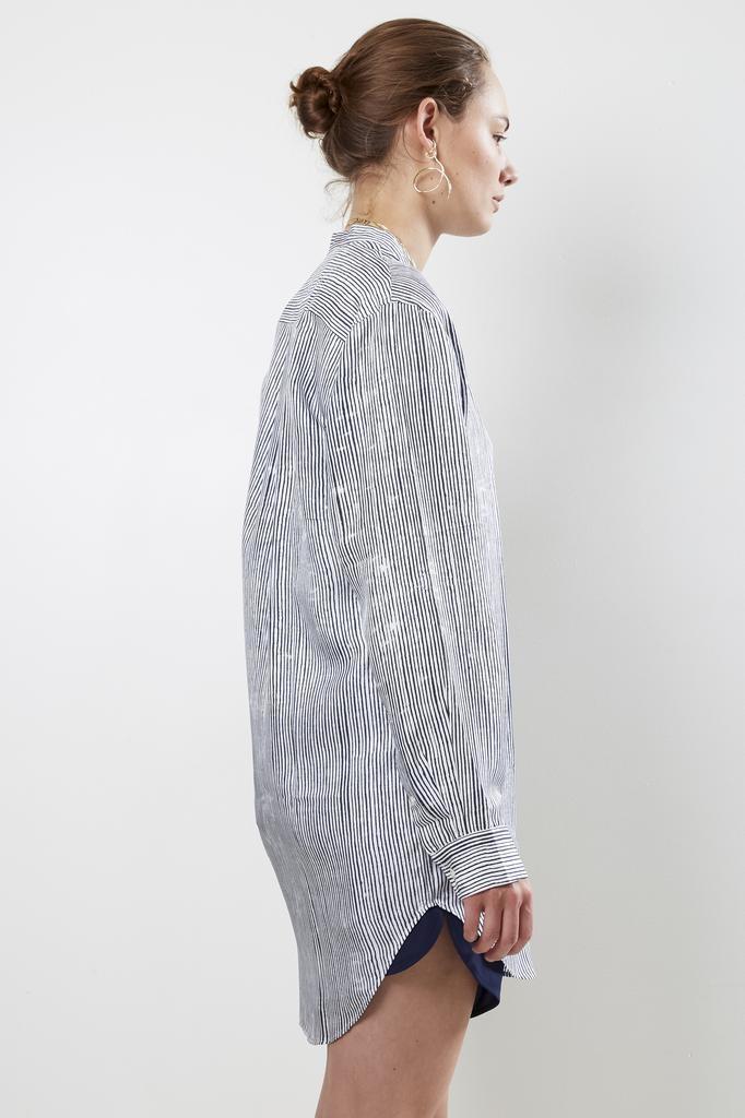 Bananatime - 100% silk grandad shirt