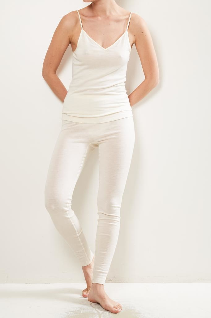hanro long woolen silk legging