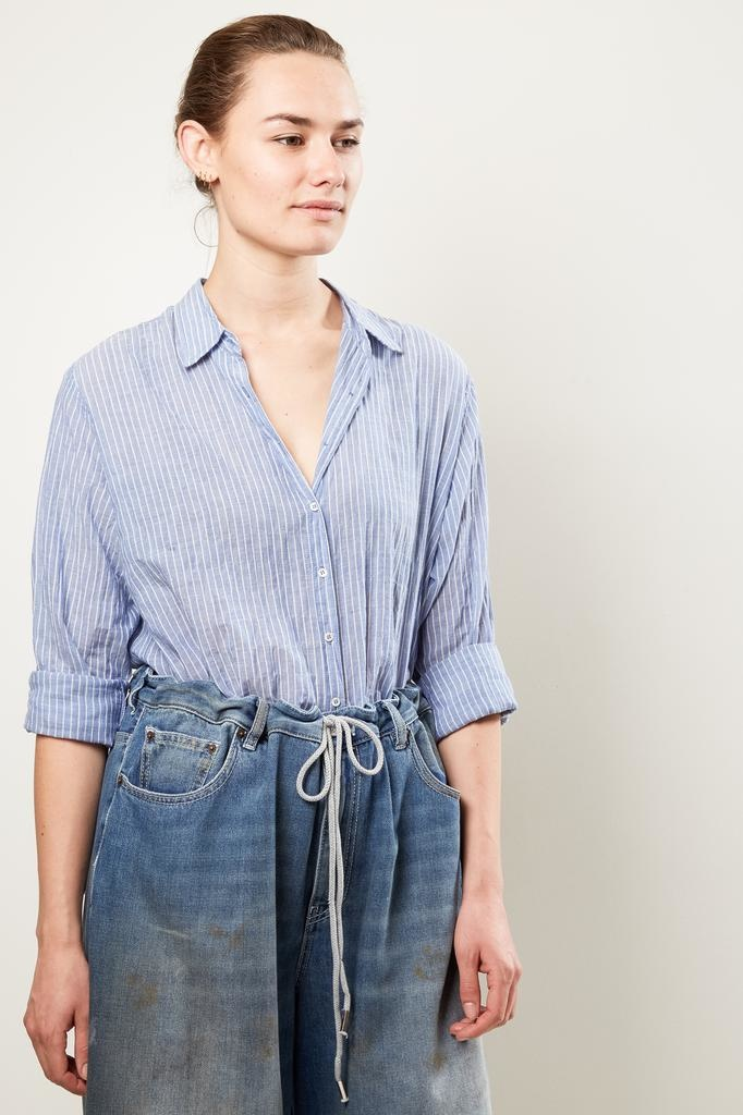 Xirena beau weather vane cotton stripe shirt