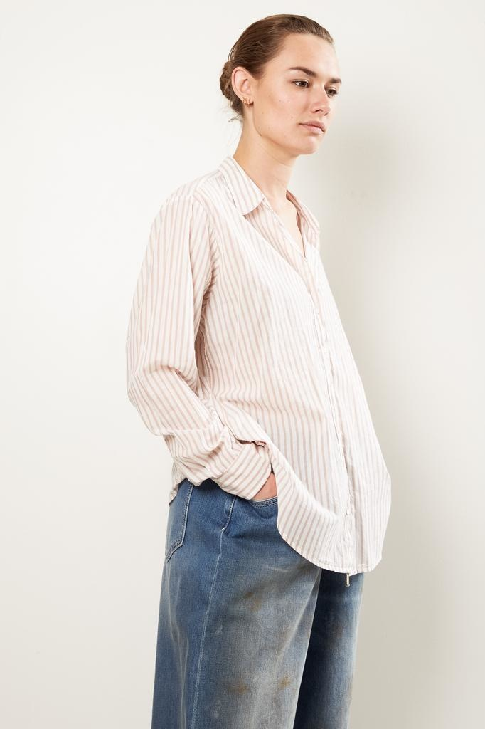 Xirena beau stripe cotton poplin shirt