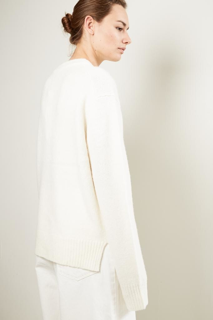 Helmut Lang brushed alpaca open sleeves sweater