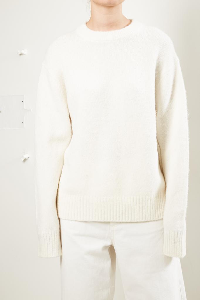 Helmut Lang - brushed alpaca open sleeves sweater