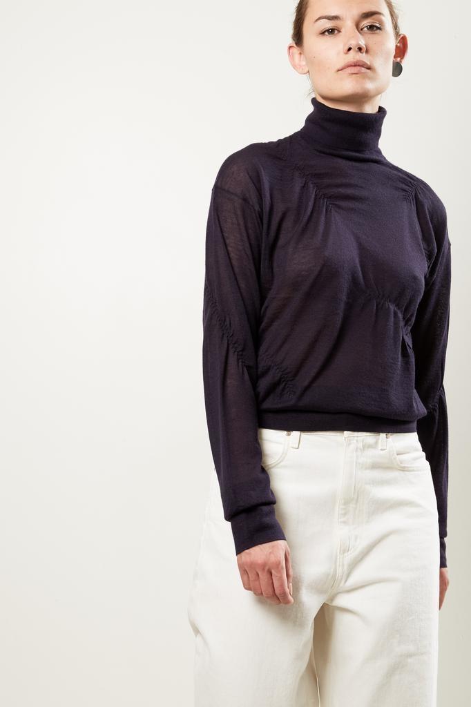 Helmut Lang elasticated cashmer tutle neck