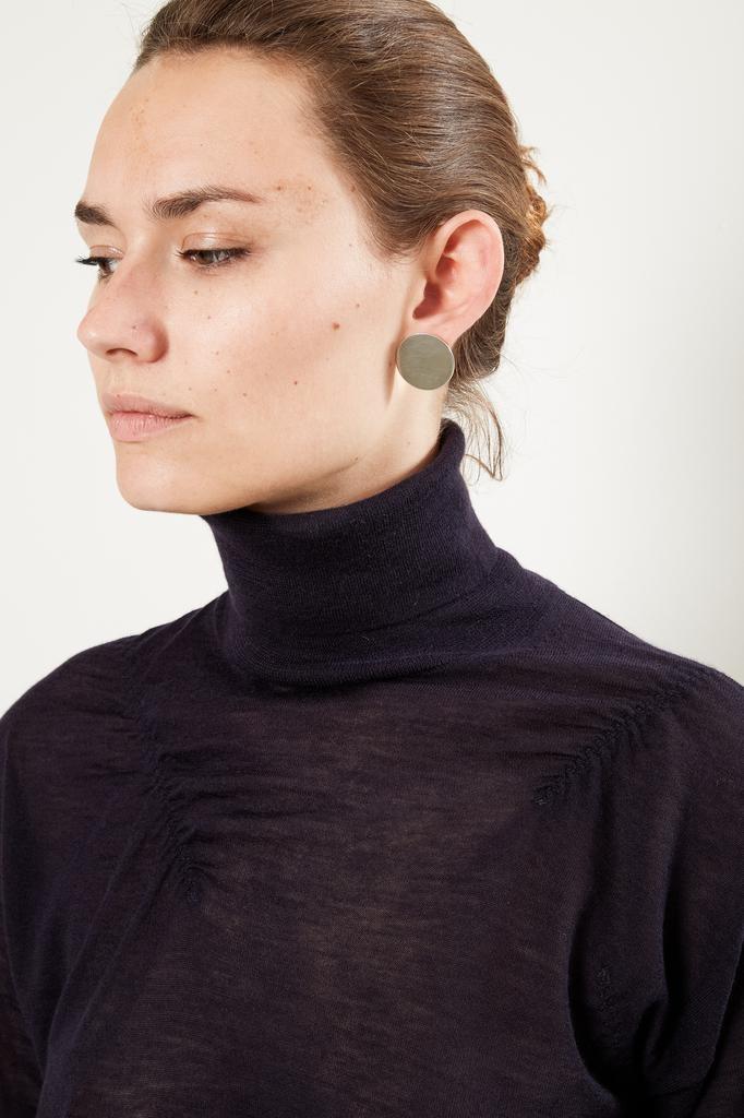 Helmut Lang - elasticated cashmer tutle neck