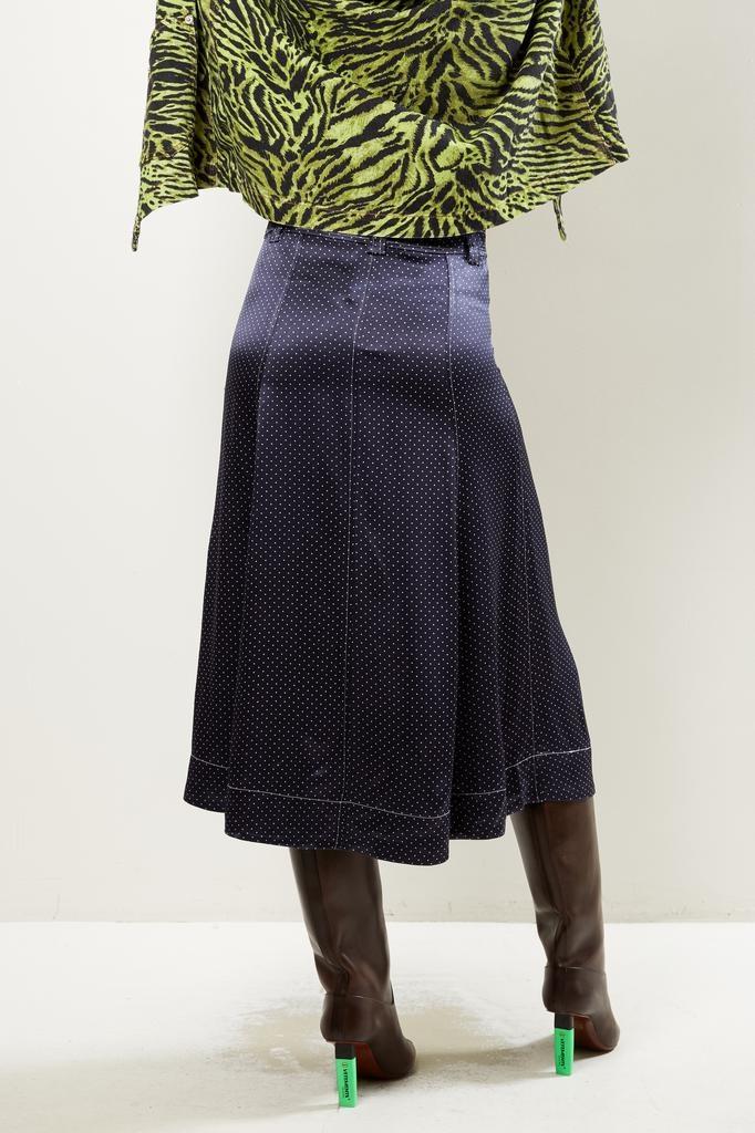 Ganni - heavy satin total eclipse skirt
