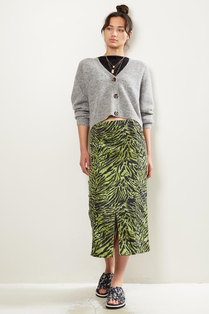 Ganni Soft Tiger skirt