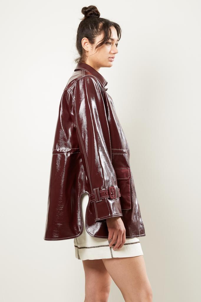Ganni Port Royale Patent coat