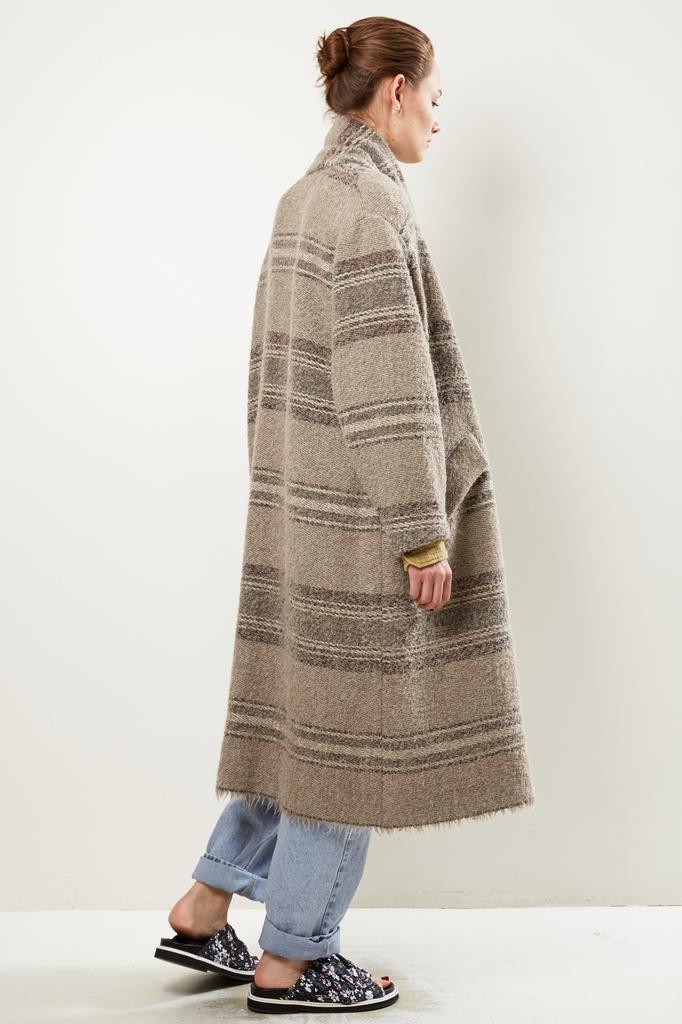Etoile Isabel Marant FABY STRIPED WOOLY coat