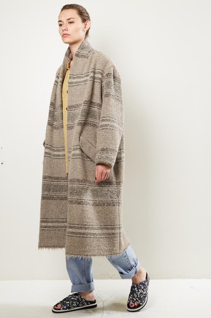 Etoile Isabel Marant - FABY STRIPED WOOLY coat