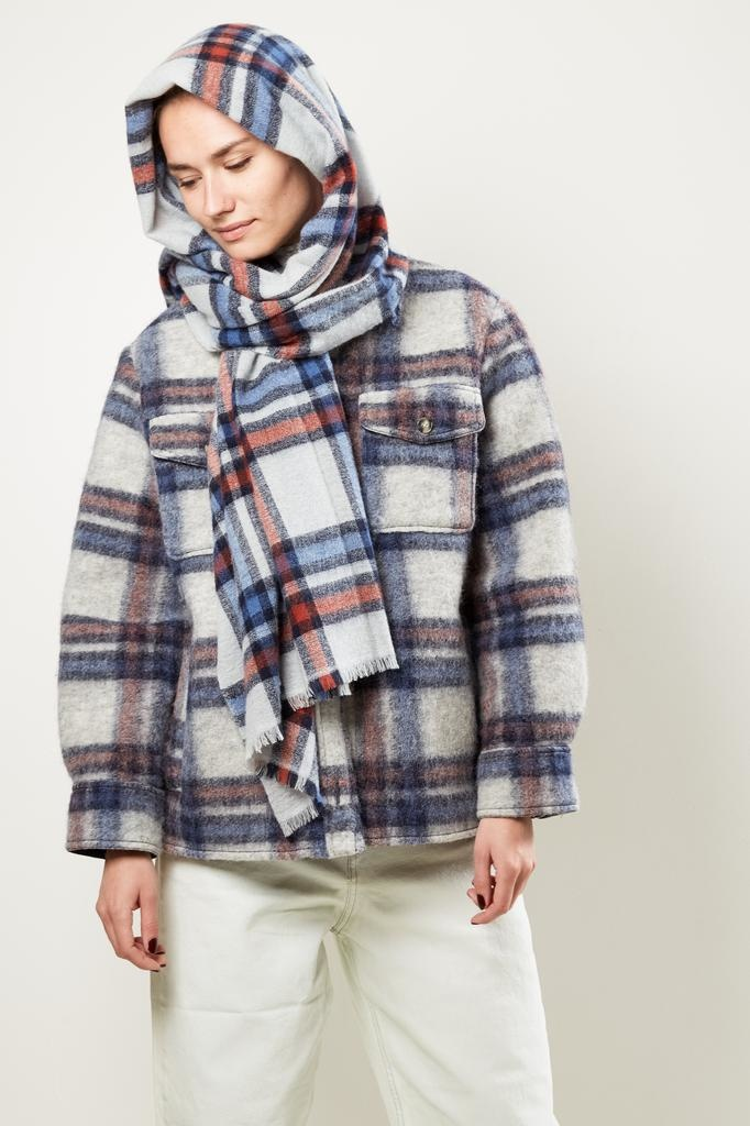 Isabel Marant - SUZANNE WOOLY CHECK SCARF