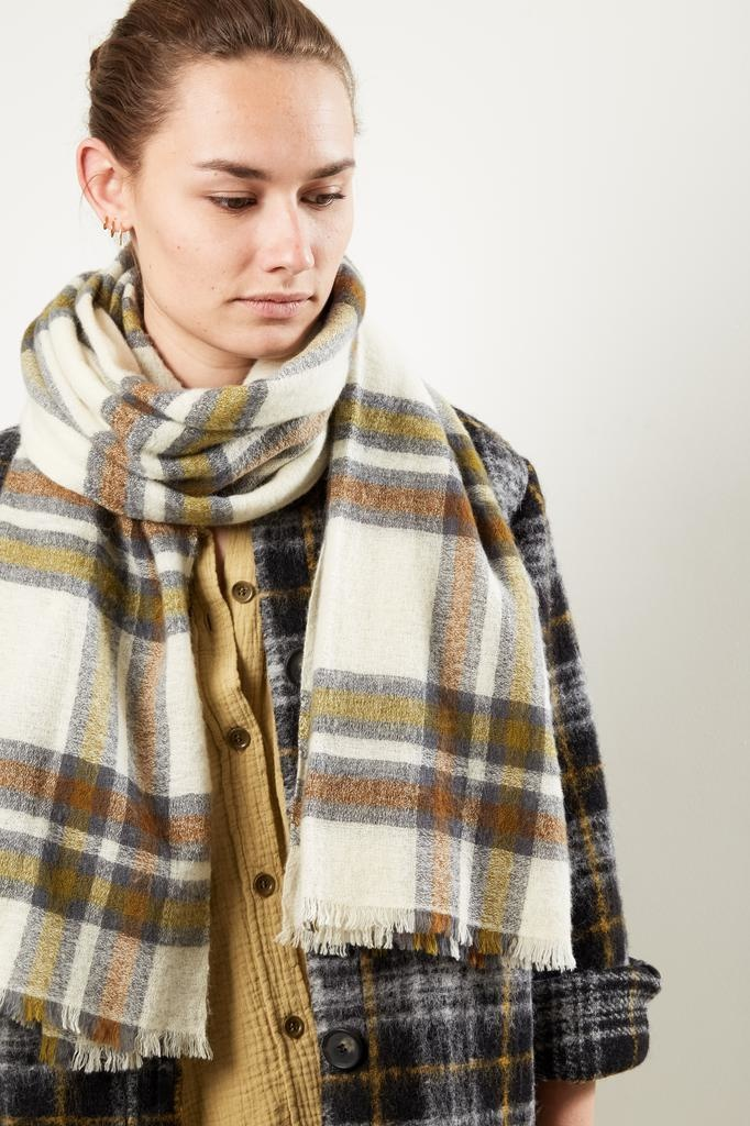 Isabel Marant SUZANNE WOOLY CHECK SCARF