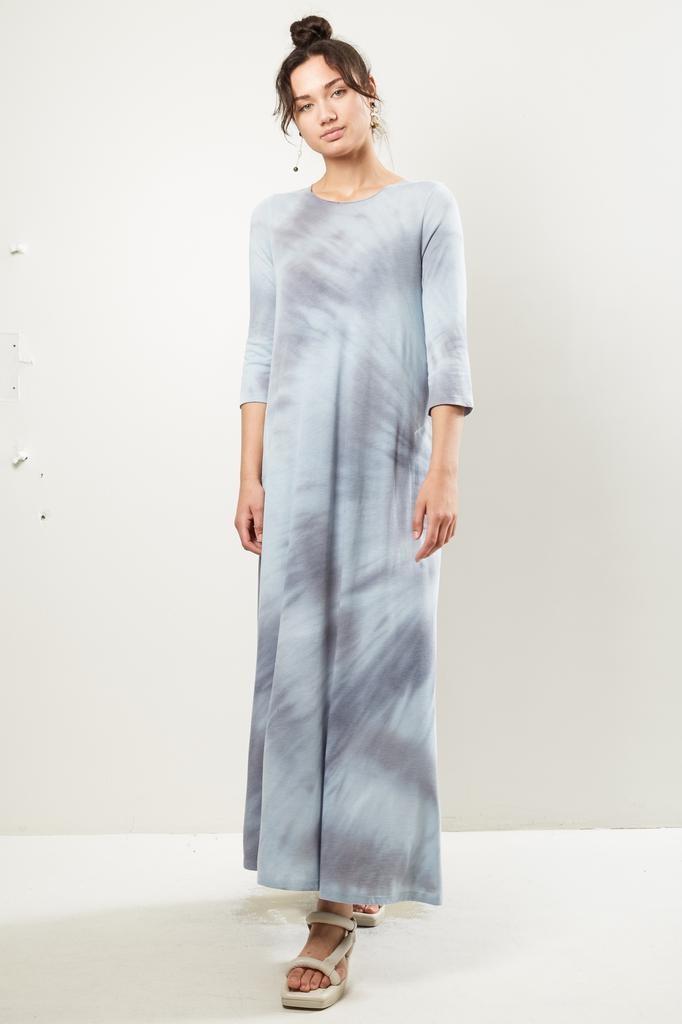Raquel Allegra - 3/4 sleeve drama maxi tie dye dress