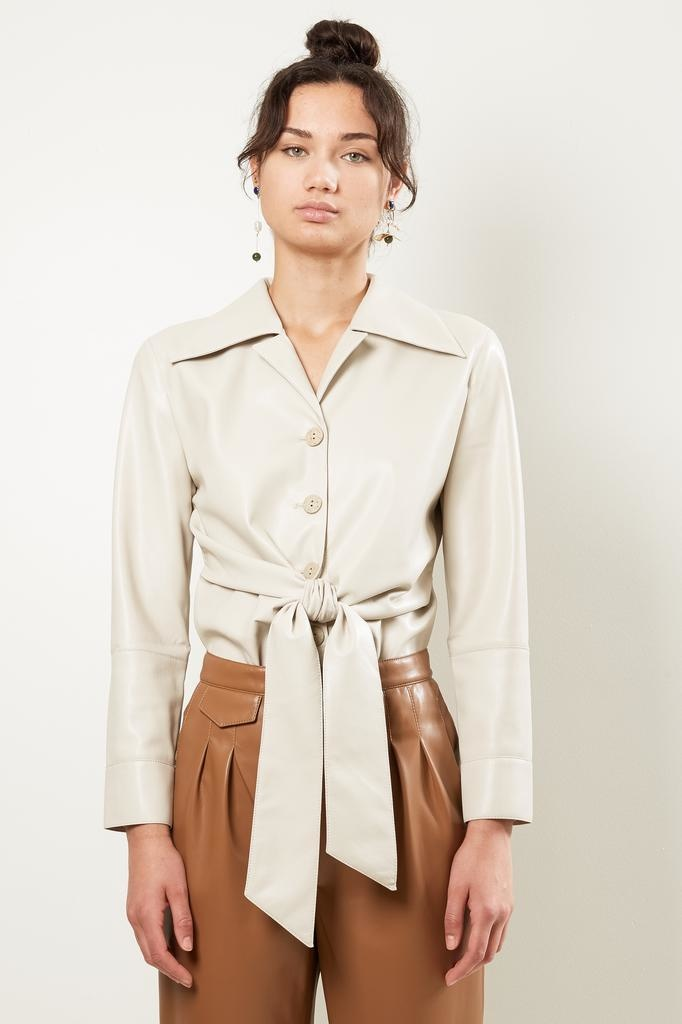 Nanuska POPPY VEGAN LEATHER SHIRT