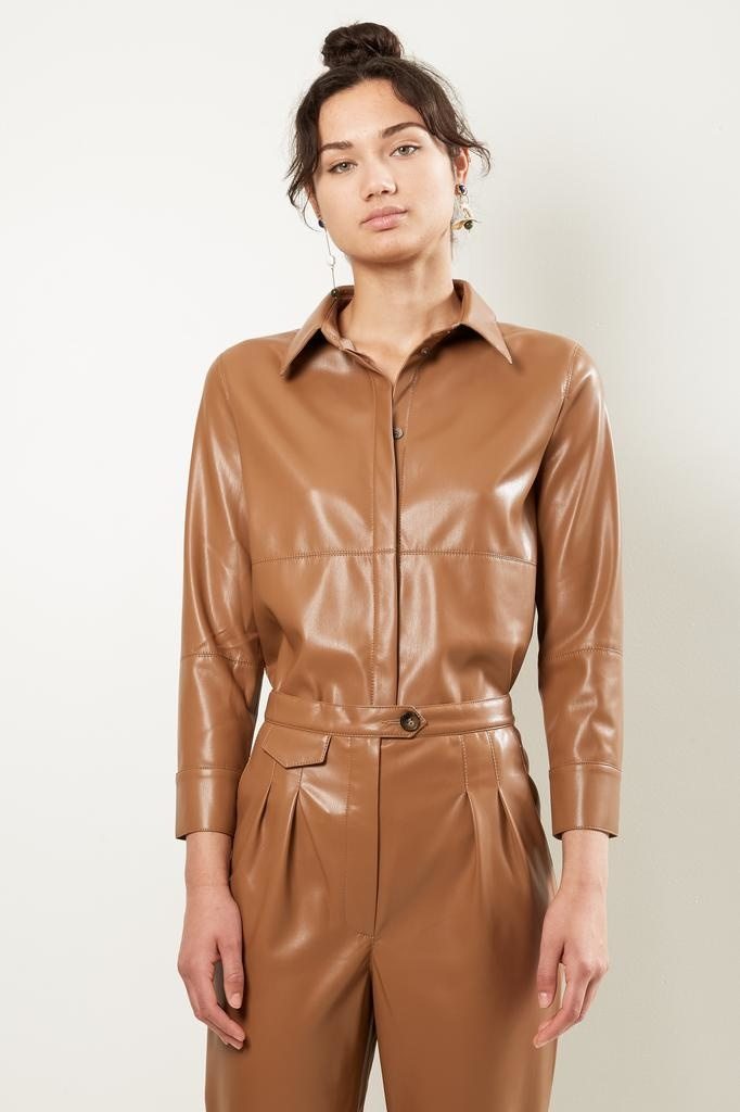 Nanuska NAUM VEGAN LEATHER SHIRT