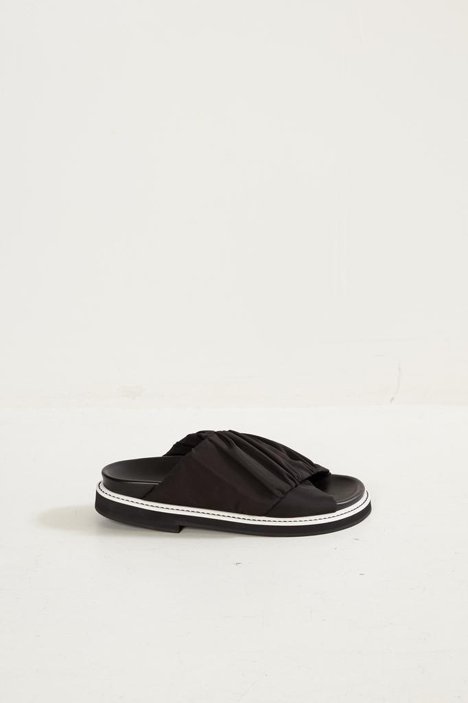 Ganni Fabric Wrap slipper