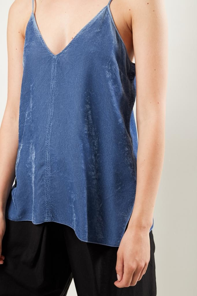 Forte Forte - fluid ribbed velvet top