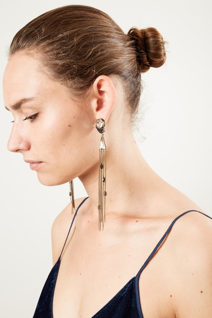 Forte Forte strass and chains earrings