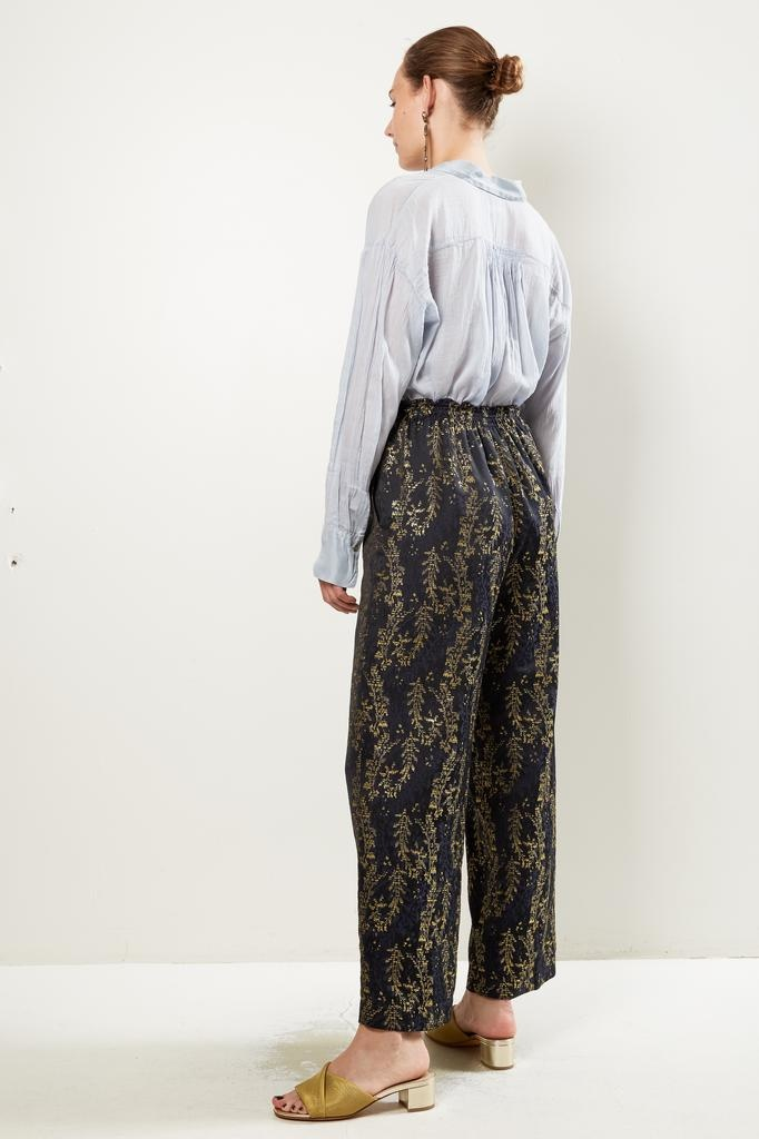 """Forte Forte - """"gipsy gold"""" jacquard pants with elastic"""