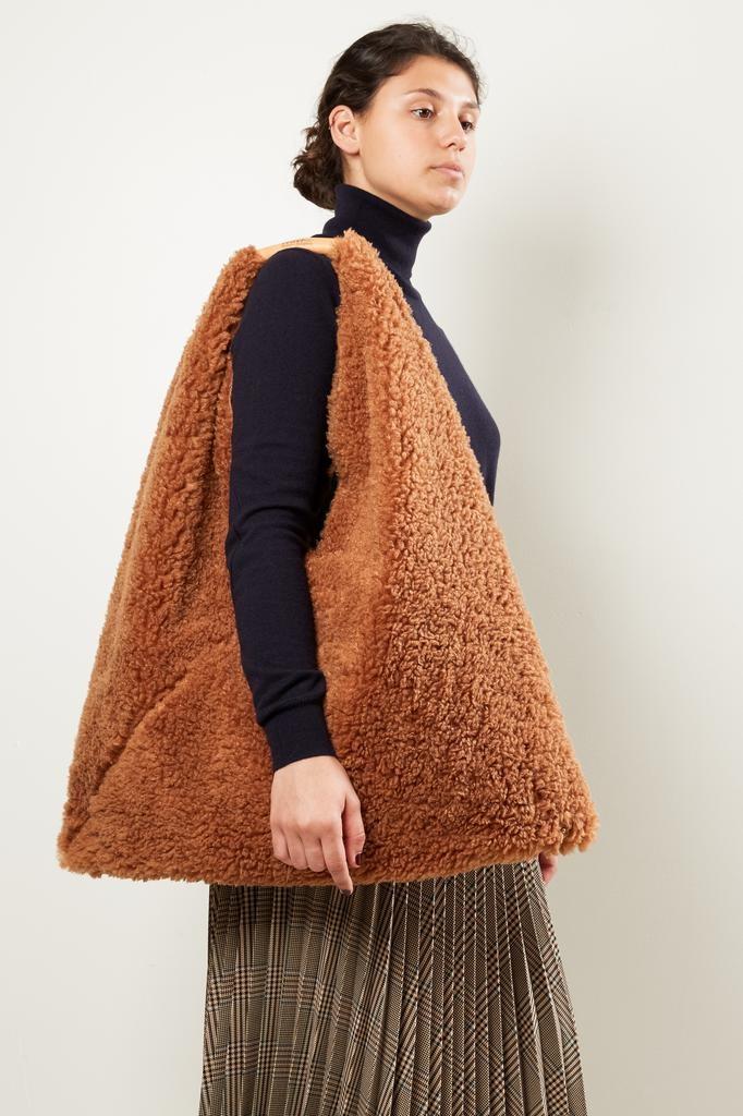MM6 Japanese folded teddy handbag