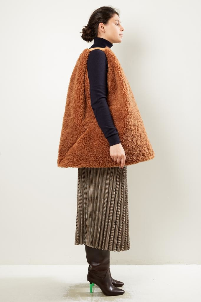 MM6 - Japanese folded teddy handbag