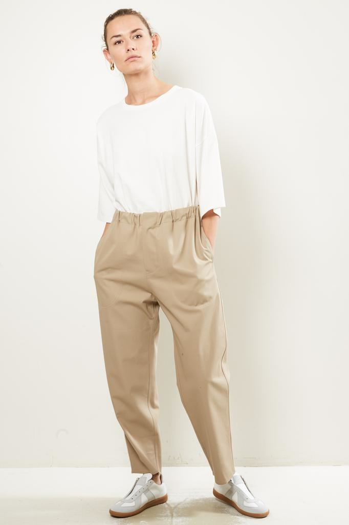 Sofie d'Hoore - Pose high twisted cotton twill trousers