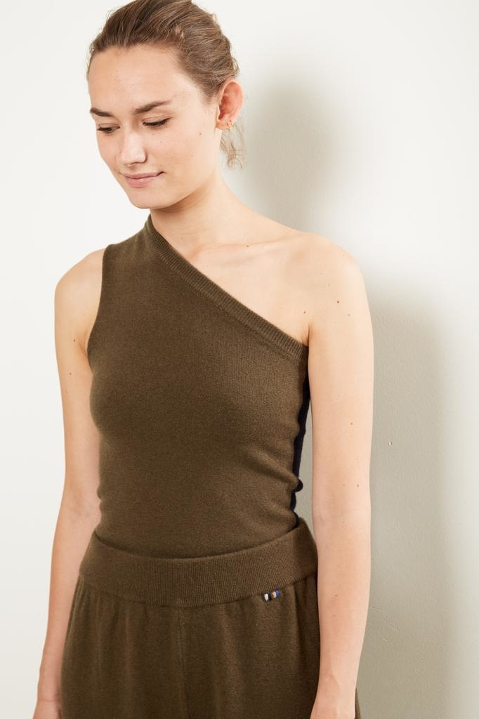 extreme cashmere Nº108 asymetric one shoulder top