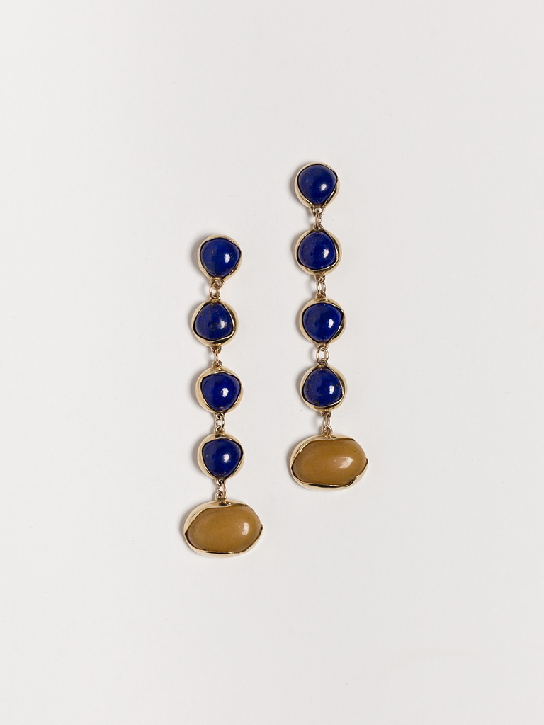 Faris Festa lapis earrings