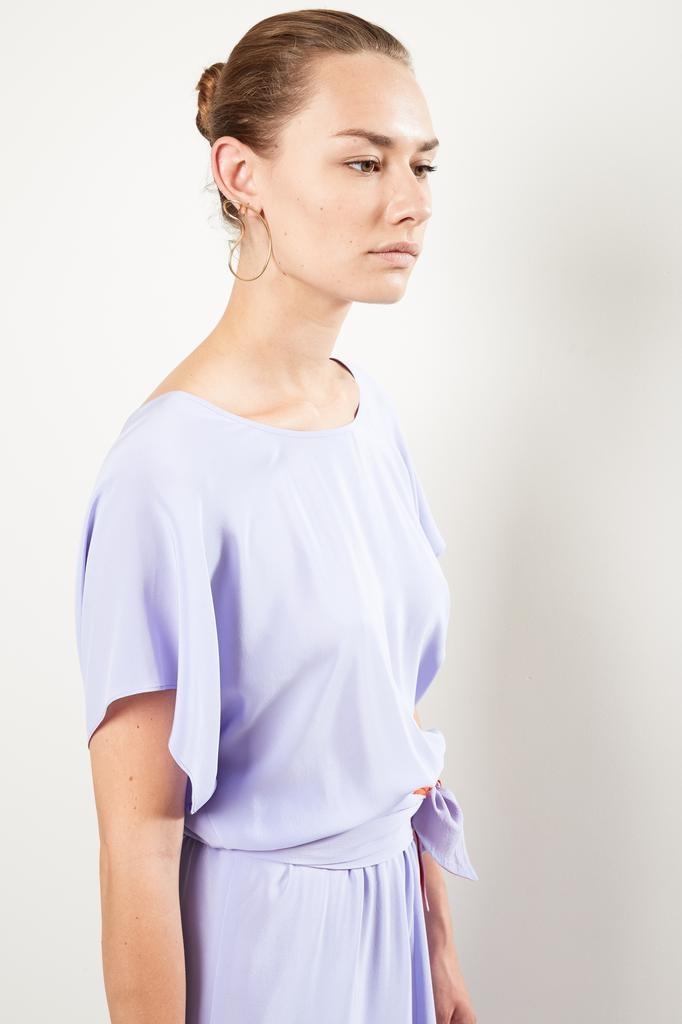 inDRESS - Batwin silk dress with belt