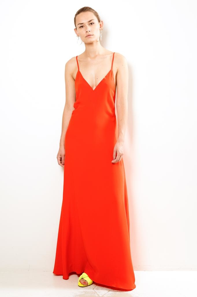 inDRESS long dress with open back