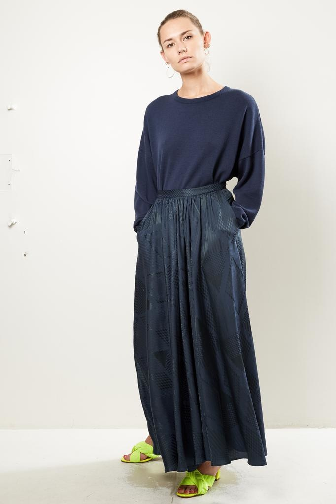 inDRESS Silk jaquard skirt
