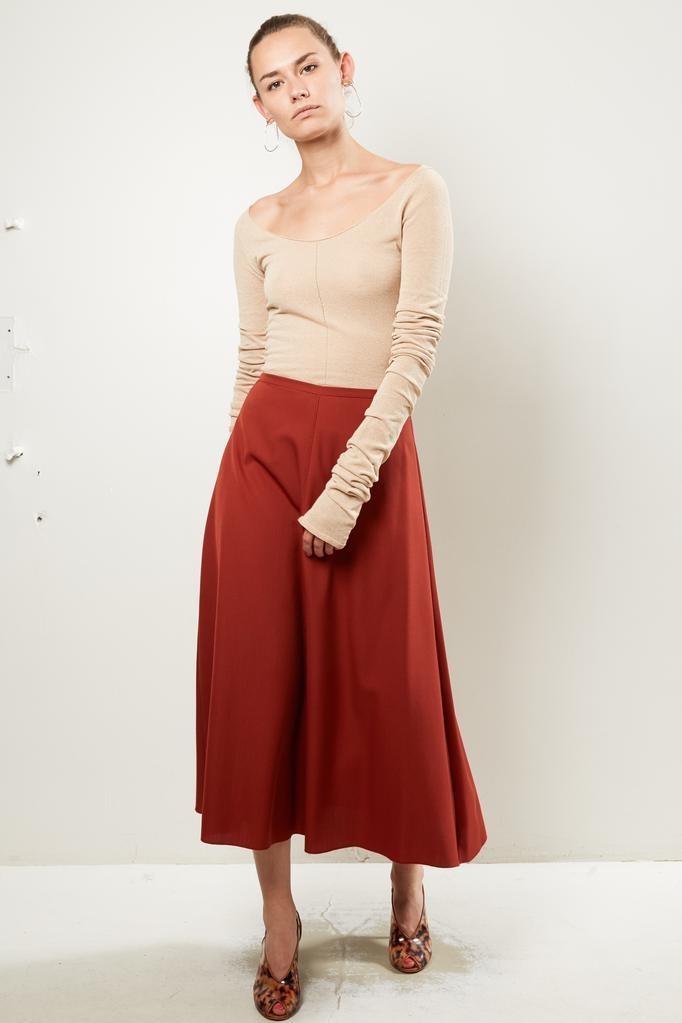 Forte Forte wool canvas skirt