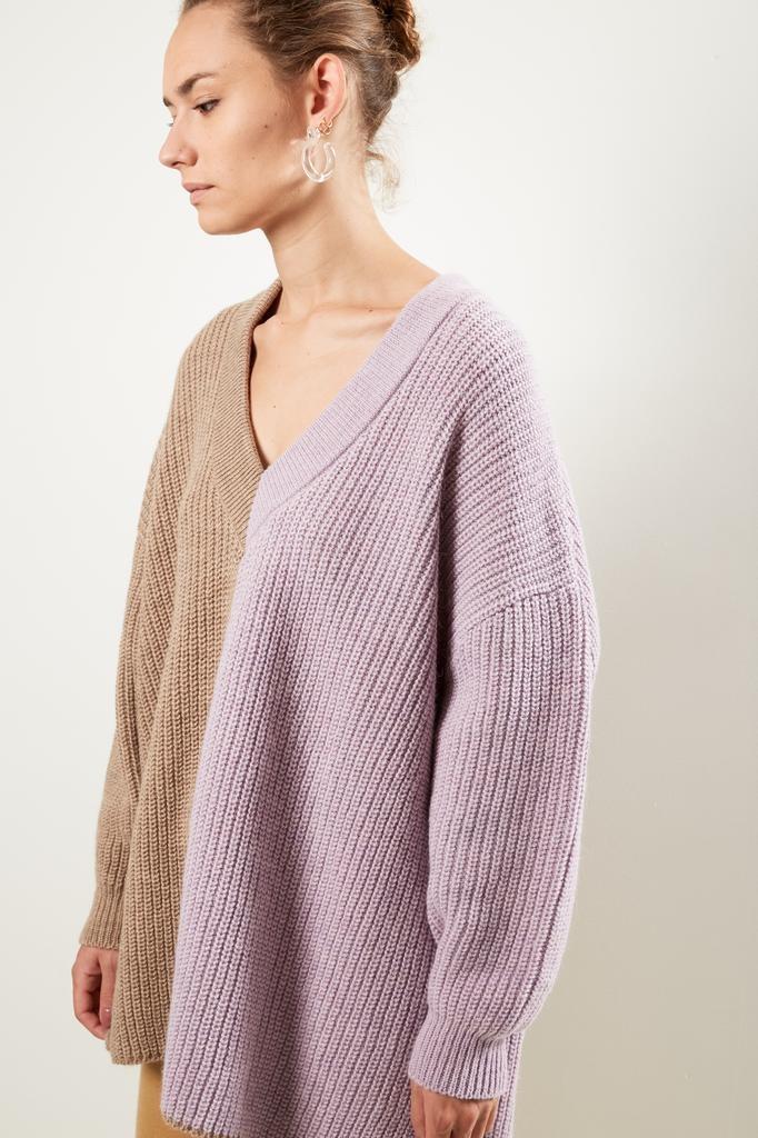 Valentine Witmeur lab fine alpaca merino wool v neck sweater