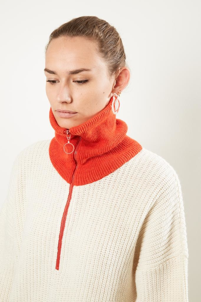 Valentine Witmeur lab Zipist bis alpaca merino wool roll neck sweater
