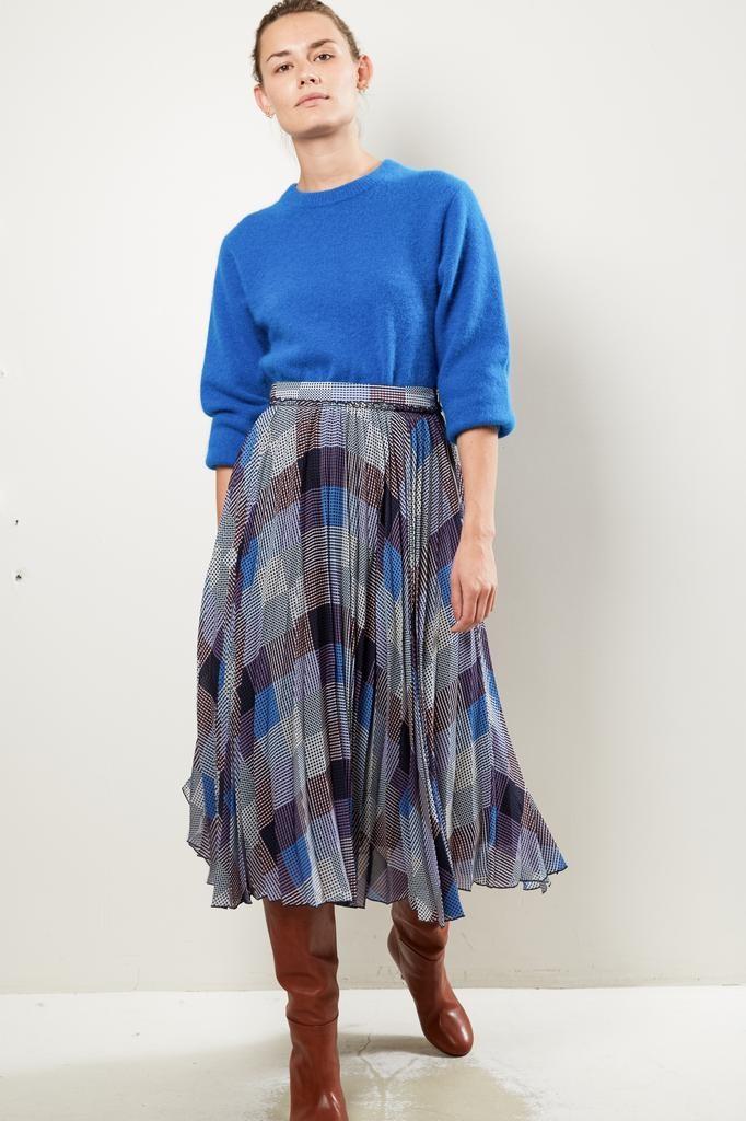Frenken Twist viscose print skirt