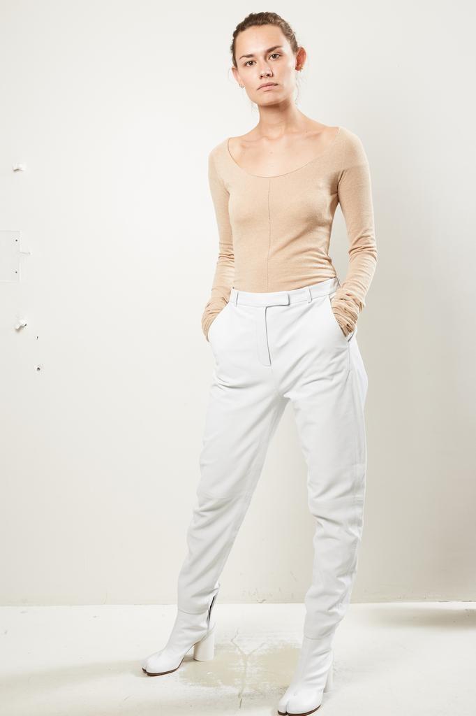 Frenken Tumble washed leather pants