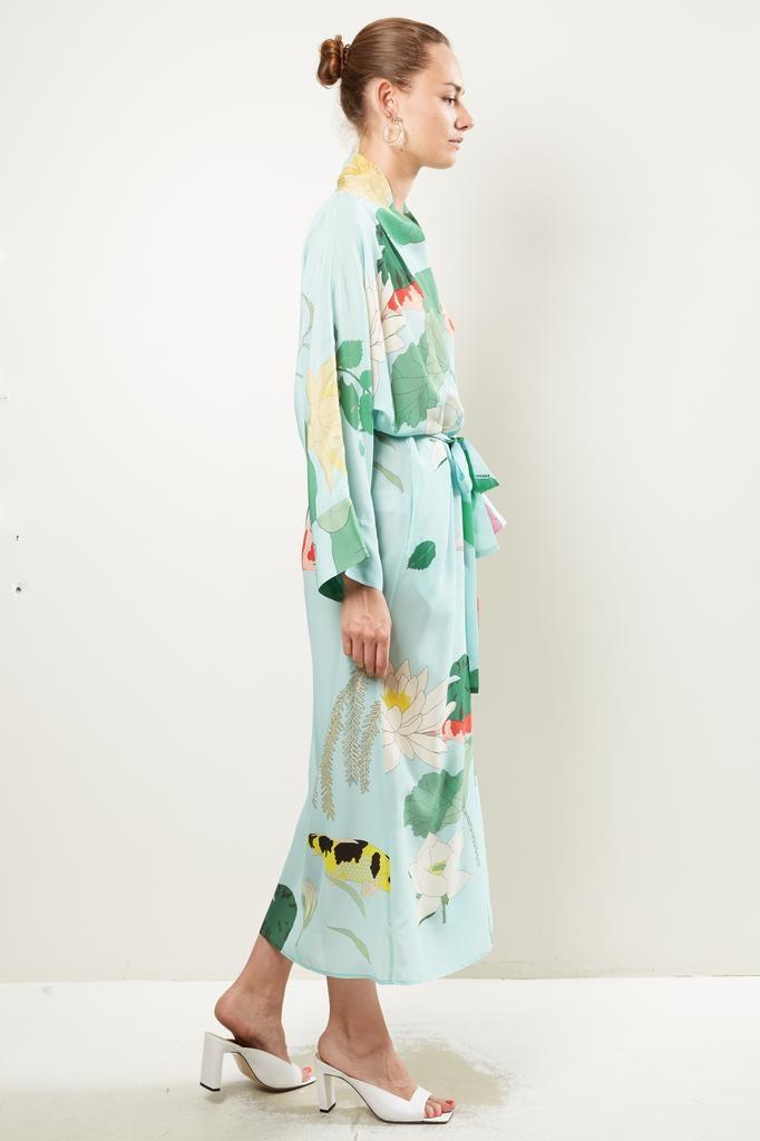 Bernadette Peignoir silk crepe de chine