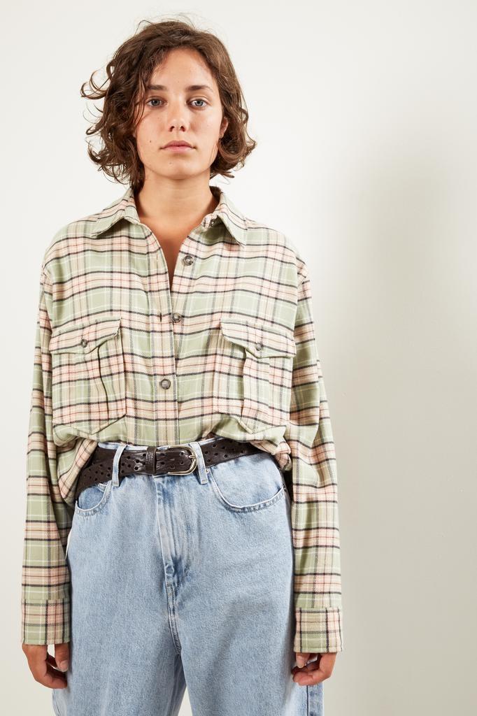 Etoile Isabel Marant Idaho check pilou shirt