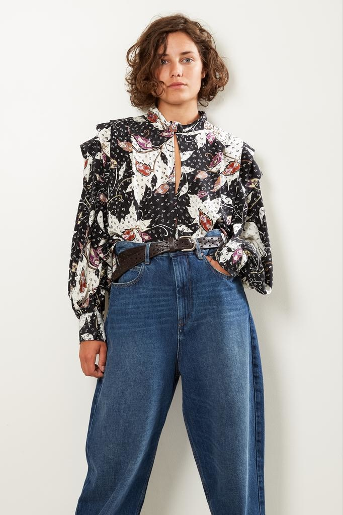 Isabel Marant Ricky printed stratch top