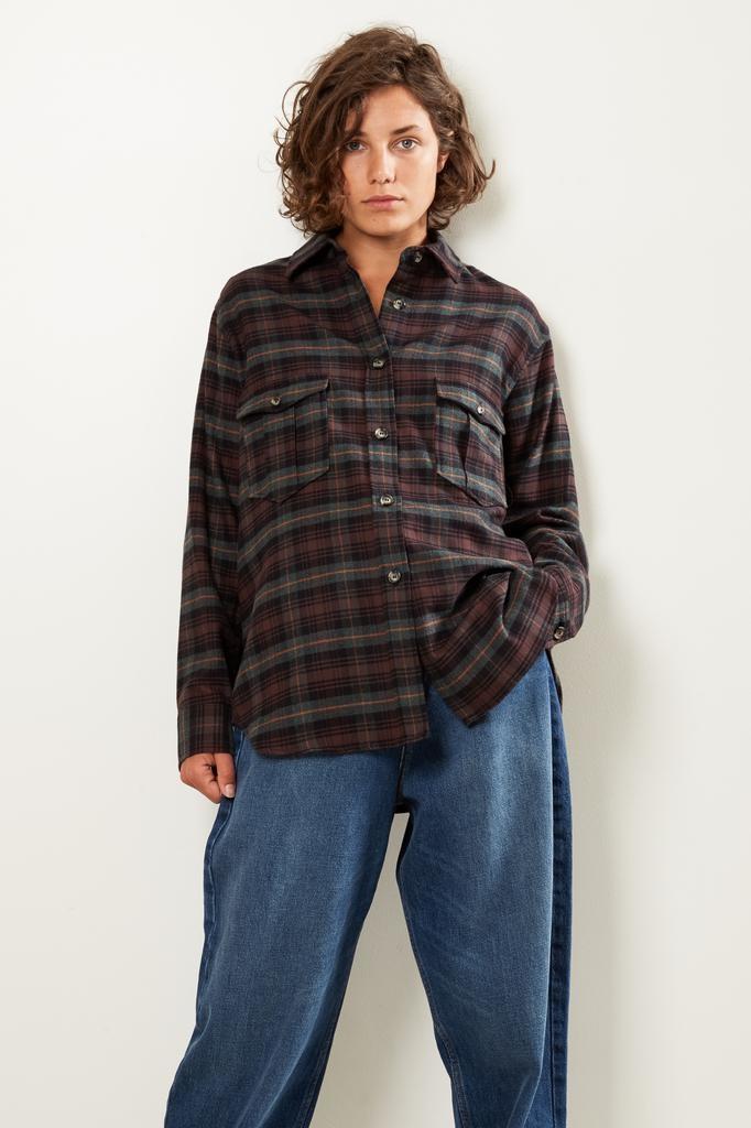 Etoile Isabel Marant Idahou check pilou shirt