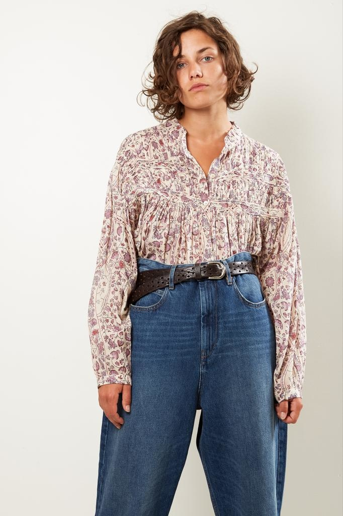 Etoile Isabel Marant Lalia printed cotton shirt