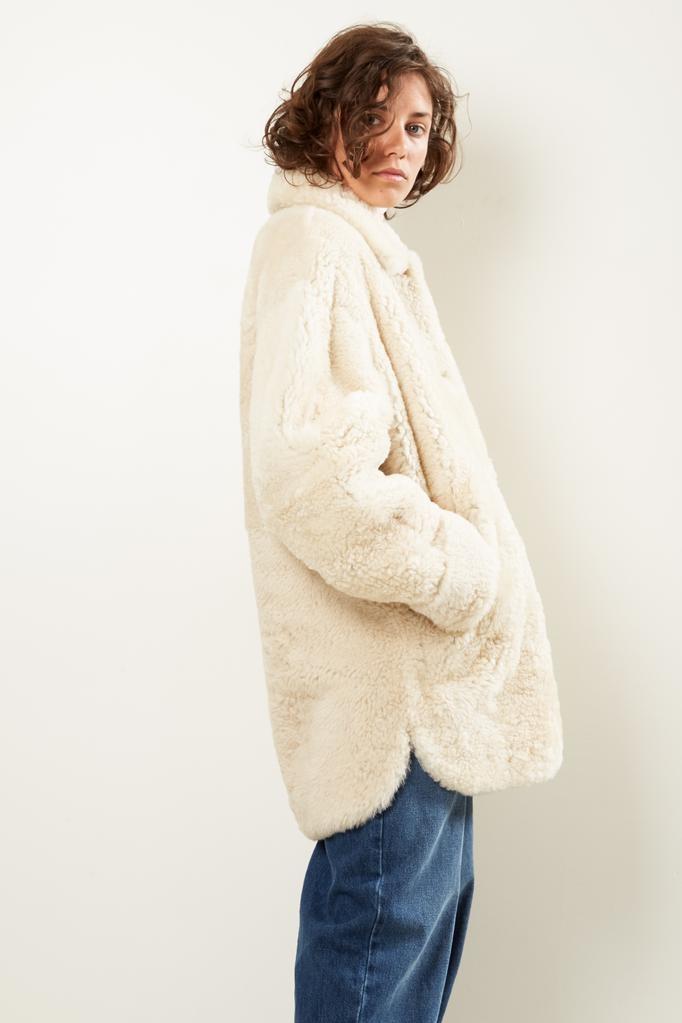 Isabel Marant Sarvey curly shearling coat