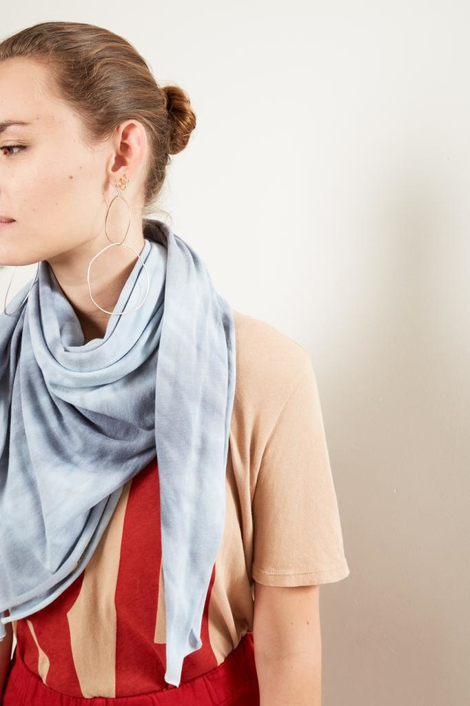 Raquel Allegra square tie dye scarf