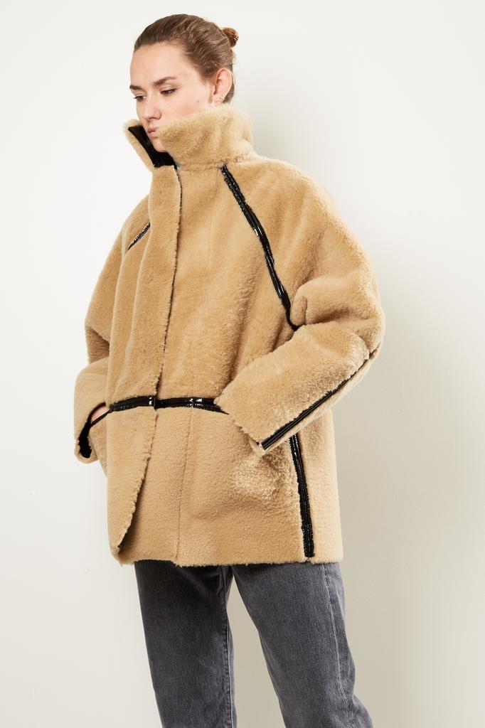 KASSL Reversible laquer sheepskin coat